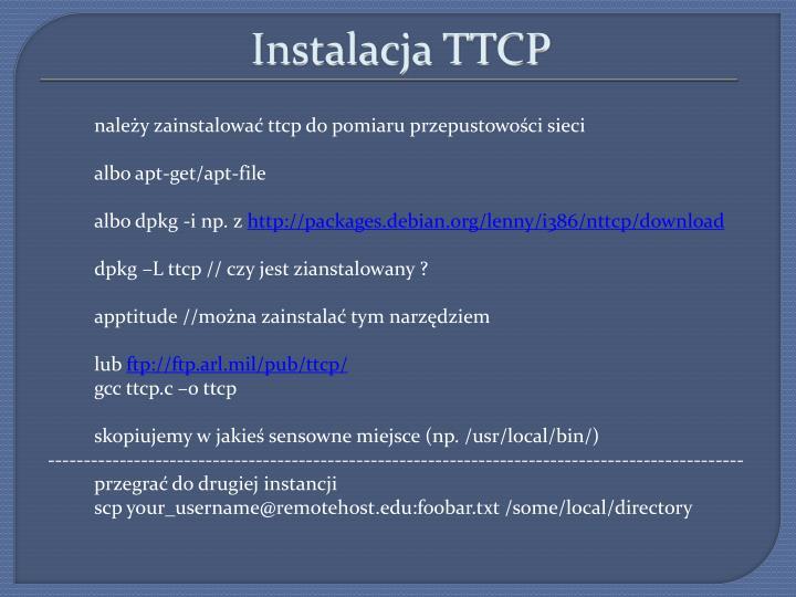 Instalacja ttcp