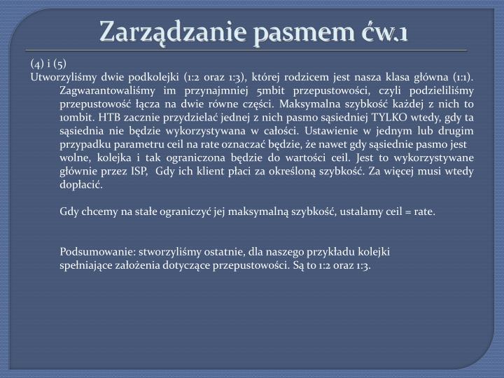Zarządzanie pasmem ćw.1