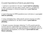 crucial importance of land use planning