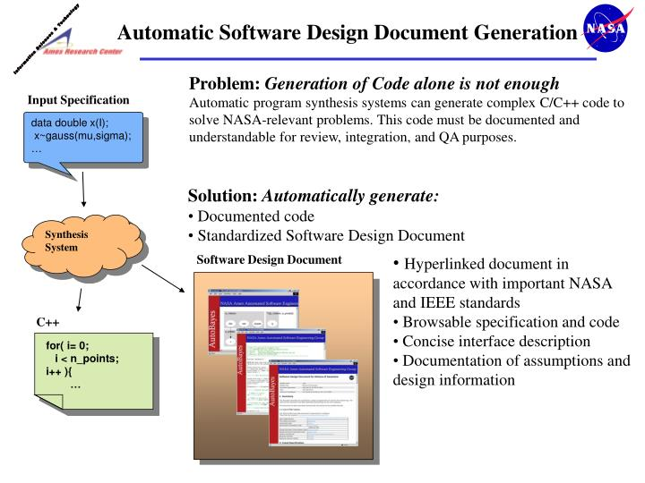 Ppt Automatic Software Design Document Generation Powerpoint Presentation Id 3370992