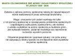 miasta cz onkowskie zmp wobec zada pomocy spo ecznej w latach 1999 2008
