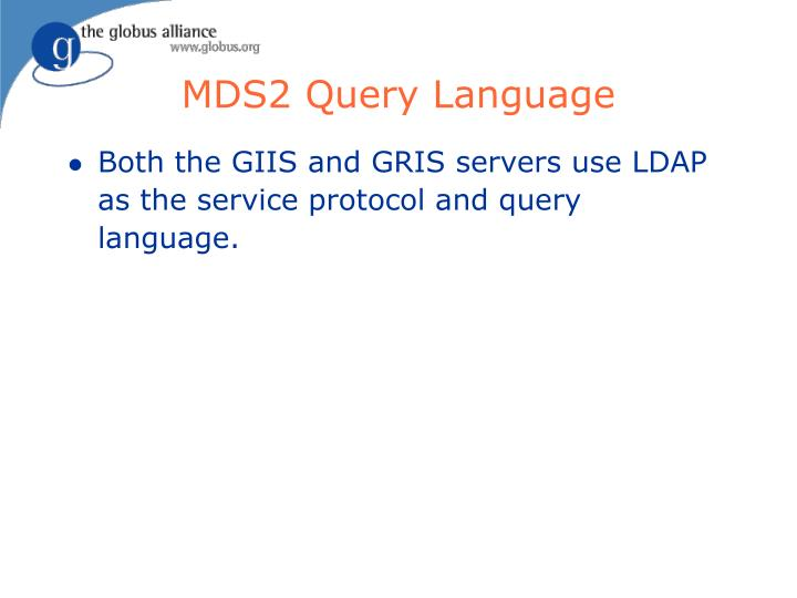 MDS2 Query Language