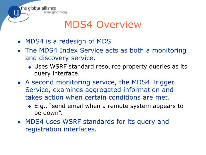 MDS4 Overview