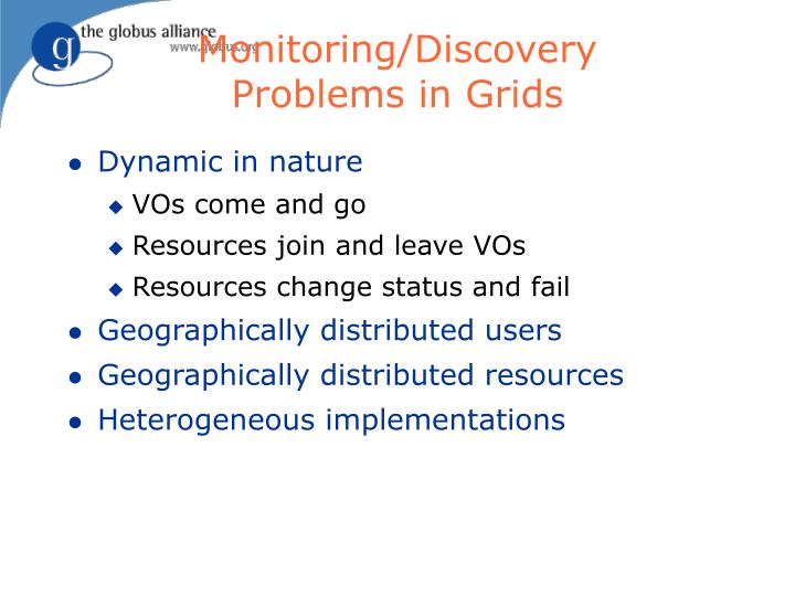 Monitoring/Discovery