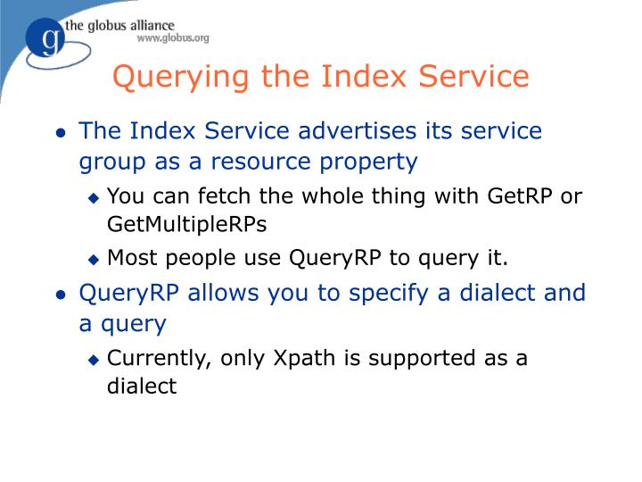Querying the Index Service