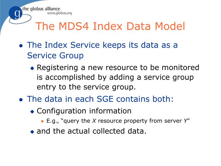 The MDS4 Index Data Model