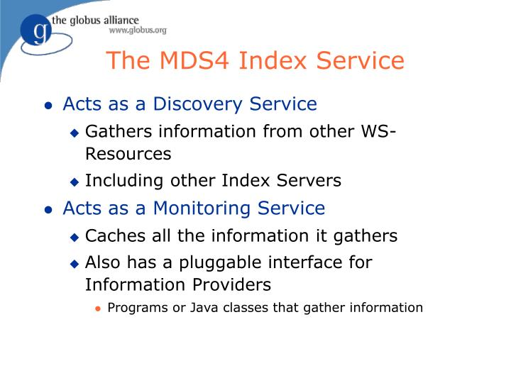 The MDS4 Index Service