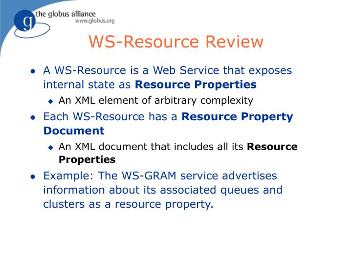 WS-Resource Review