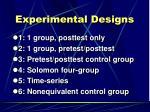experimental designs1