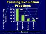 training evaluation practices