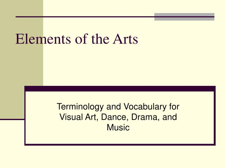 elements of the arts n.