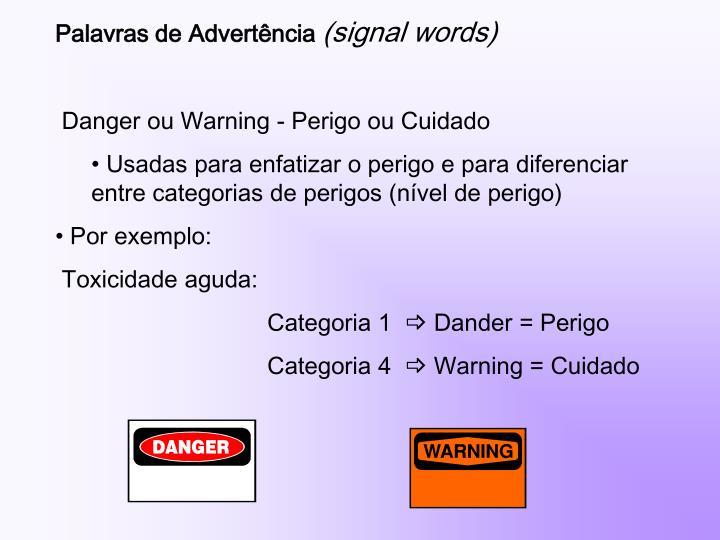 Palavras de Advertência