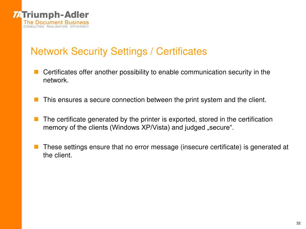 PPT - Data Security on TA Triumph-Adler SynControl Systems