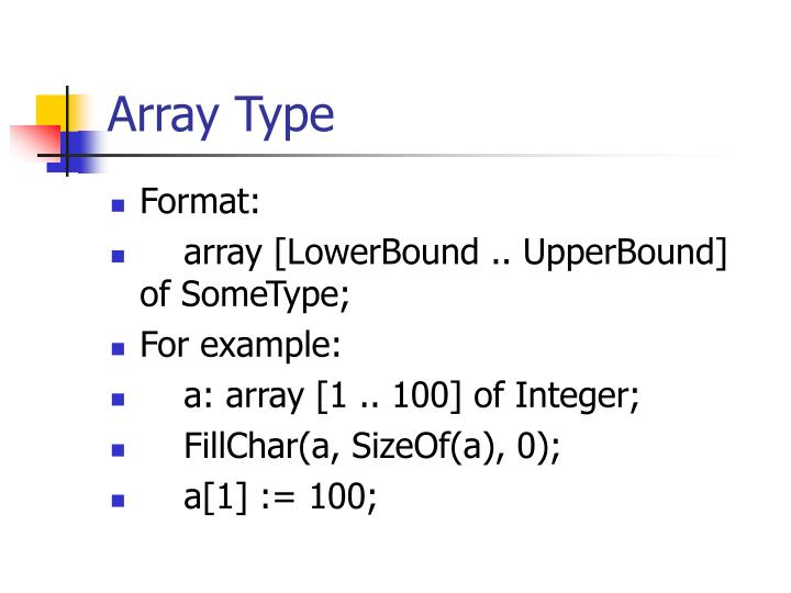Array Type