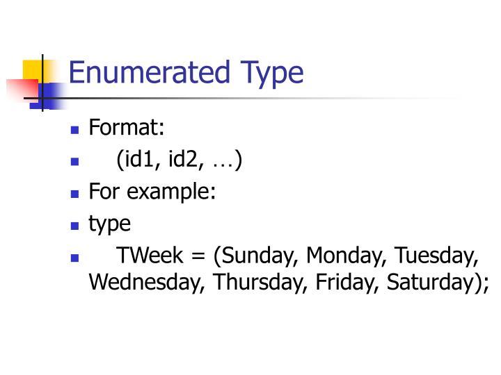 Enumerated Type