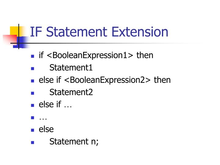 IF Statement Extension