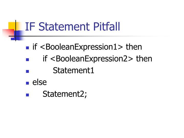 IF Statement Pitfall