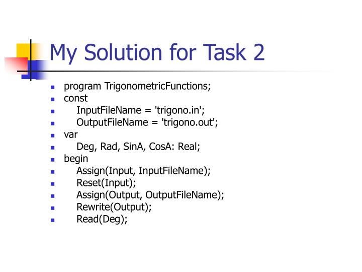 My Solution for Task 2
