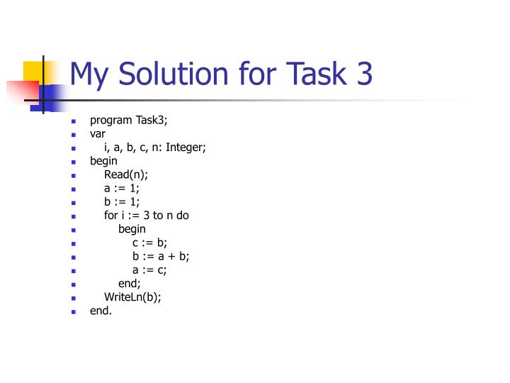 My Solution for Task 3