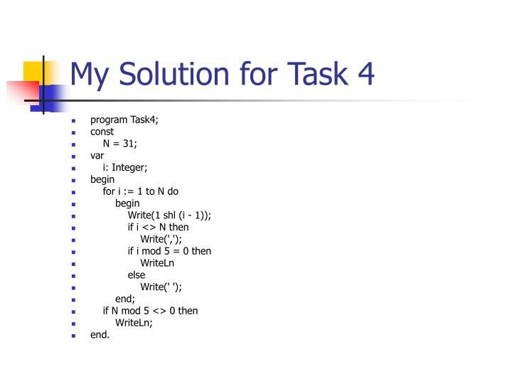 My Solution for Task 4