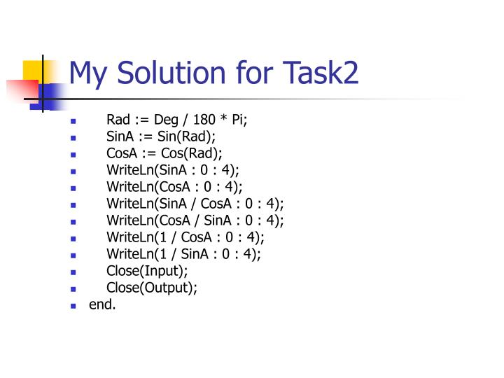 My Solution for Task2