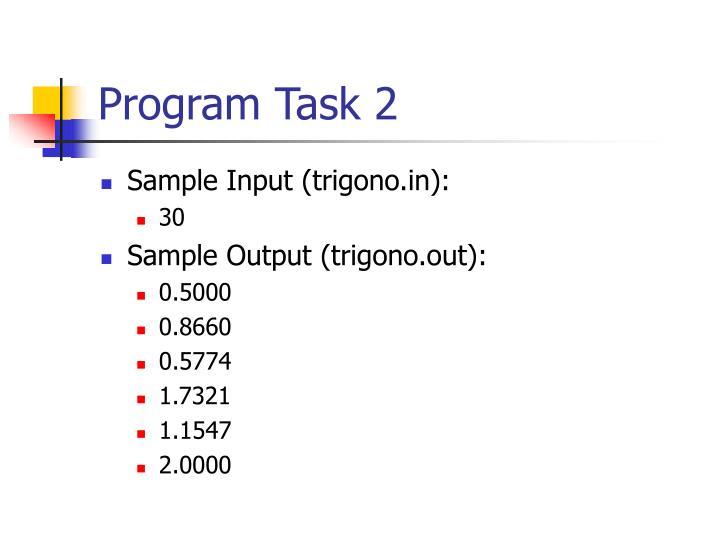 Program Task 2