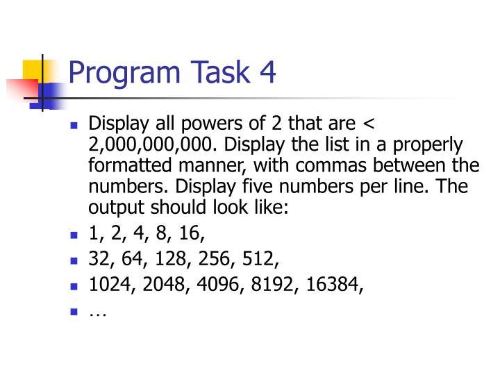 Program Task 4