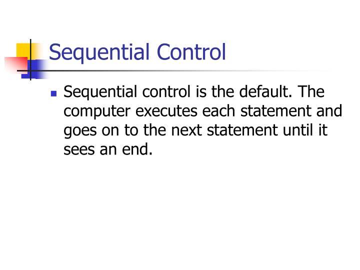 Sequential Control