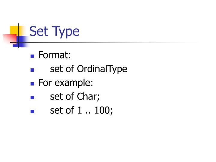 Set Type