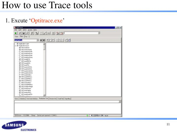 How to use Trace tools