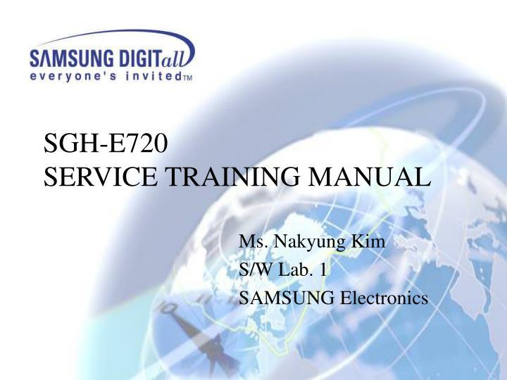 Sgh e720 service training manual