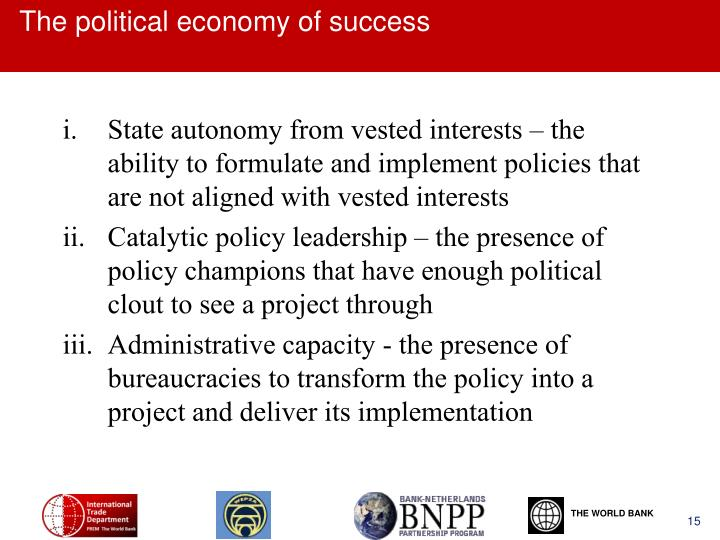 The political economy of success