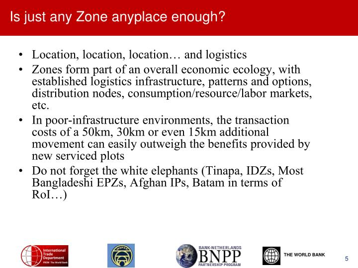 Is just any Zone anyplace enough?