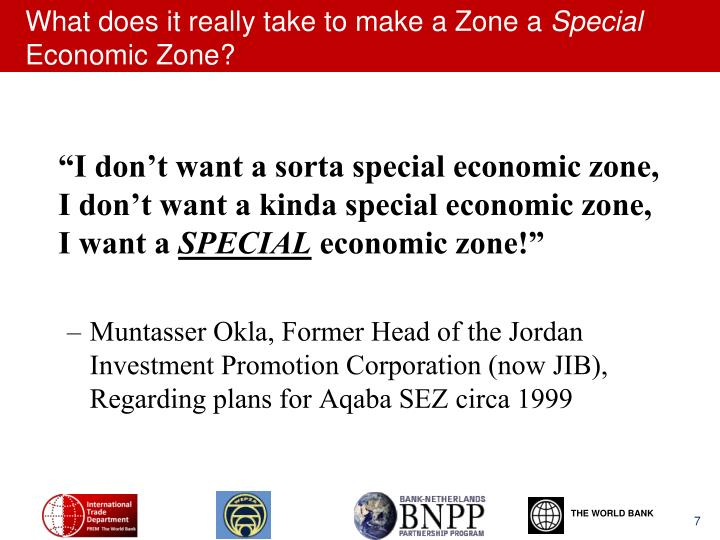 What does it really take to make a Zone a