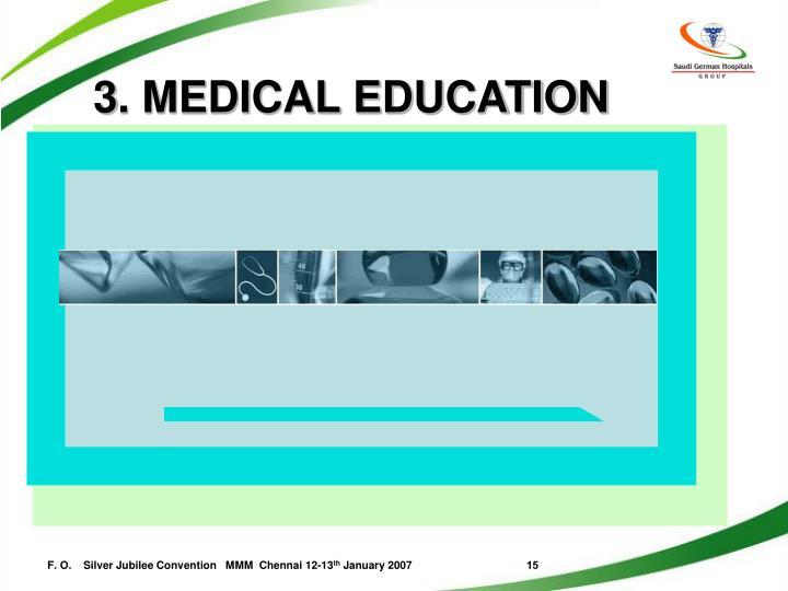 3. MEDICAL EDUCATION