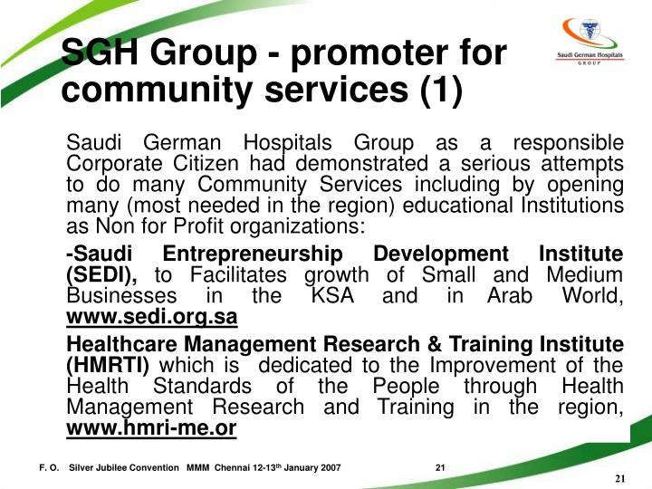 SGH Group - promoter for community services (1)