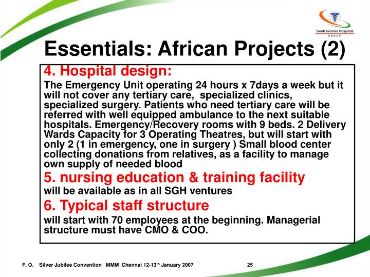 Essentials: African Projects (2)