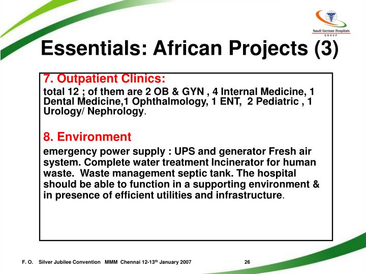 Essentials: African Projects (3)