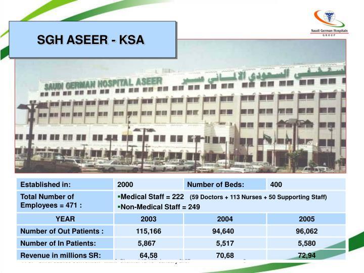 SGH ASEER - KSA