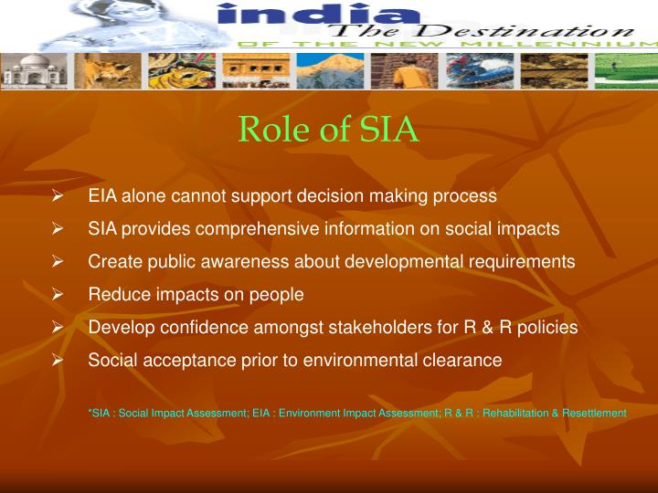 Role of SIA