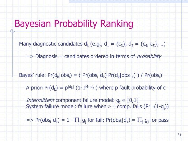 Bayesian Probability Ranking
