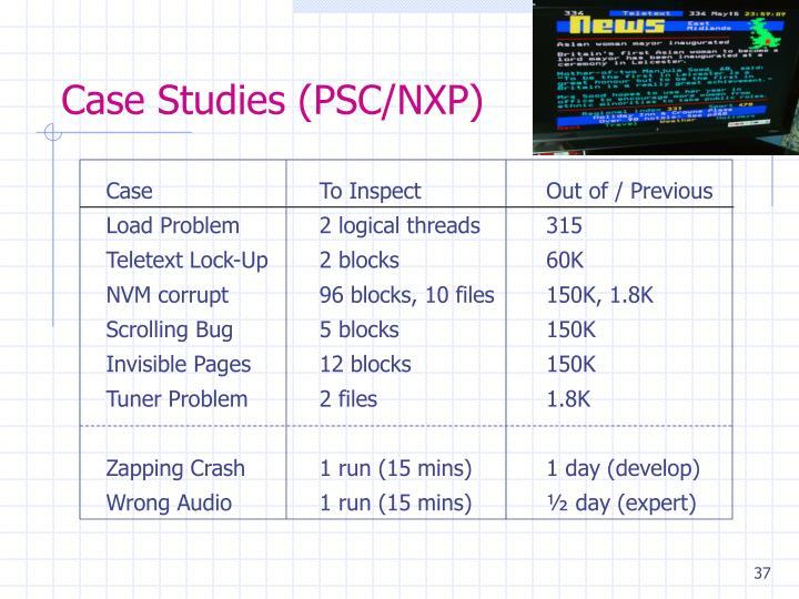 Case Studies (PSC/NXP)