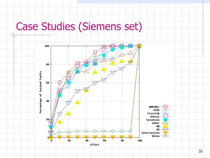Case Studies (Siemens set)