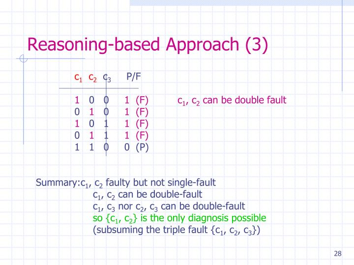 Reasoning-based Approach (3)