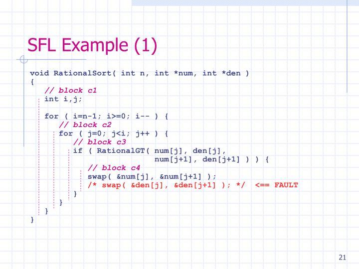 SFL Example (1)