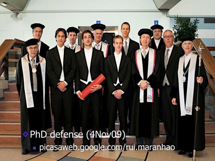 PhD defense (4Nov09)