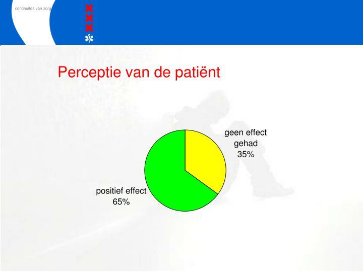 Perceptie van de patiënt