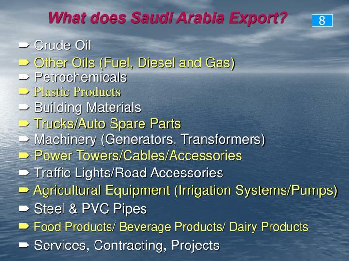 What does Saudi Arabia Export?