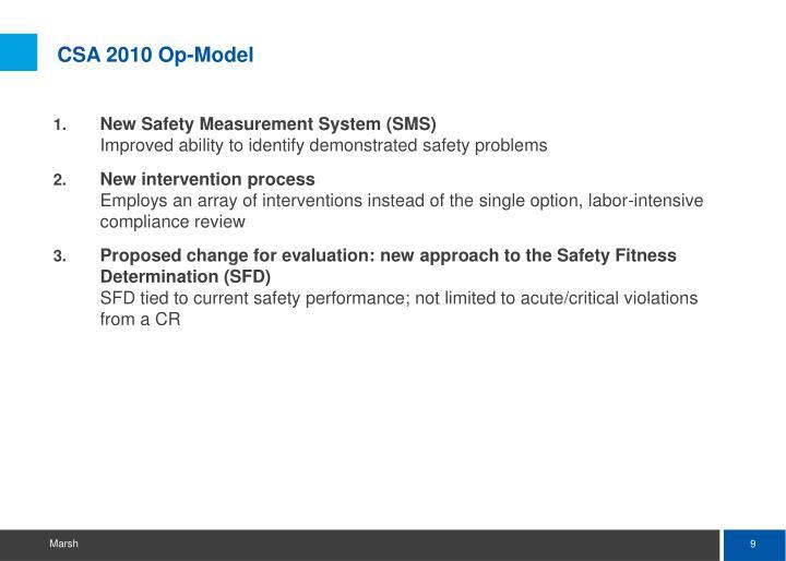 CSA 2010 Op-Model