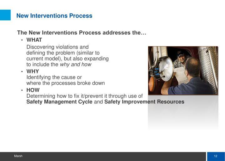 New Interventions Process